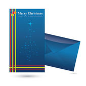 Vector Christmas Greetings Card with envelope — Stock Vector