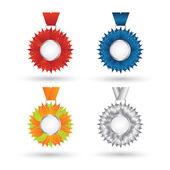 Vector modern Medal set design — Stock Vector