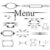 Vector vintage menu design element set — Stock Vector