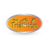 Vector triathlon emblem — Stock Vector