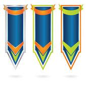 Vektorové moderní reklamní banner sada — Stock vektor