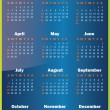 Vector 2013 calendar design — Stock Vector #19463145