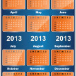 Stock Vector: Vector 2013 calendar design