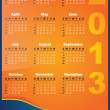 Vector 2013 calendar design — Stock Vector