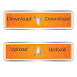 Vector Download - Upload button set — Stock Vector #19463377