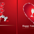 Vector Happy Valentine's Day Background / Greetings card — Stok Vektör