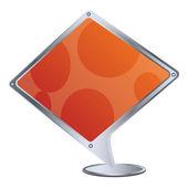 Conception de bulle pour le discours Vector orange — Vecteur
