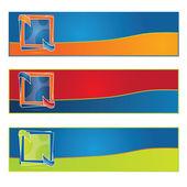 Vector web2 color banner set — Stock Vector