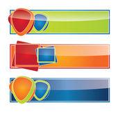 Vector Color modern Web2 website banner set — Stock Vector
