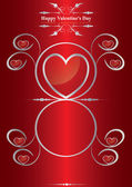 Vector Happy Valentine's Day Background / Greetings card — Stock Vector