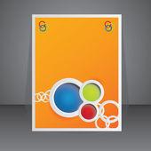 Vector orange advertising element - brochure design — Stock Vector