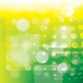 Vector abstract green bokeh background — Stock Vector