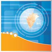 Vector business brochure-background design — Stock Vector