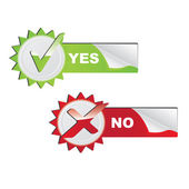 Vector Yes - No check symbols — Stock Vector