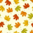 maple leaves nahtlose — Stockvektor
