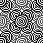 Astratto bianco e nero senza soluzione di continuità — Vettoriale Stock