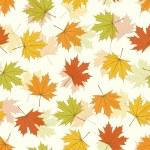 fond sans couture de Maple leaf — Vecteur
