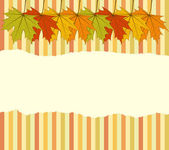Torn Autumnal Wallpaper — Stock Vector