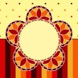 Royalty-Free Stock Imagem Vetorial: Stained Glass Flower Card