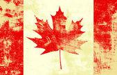 Grunge Canadian Flag — Stock Vector