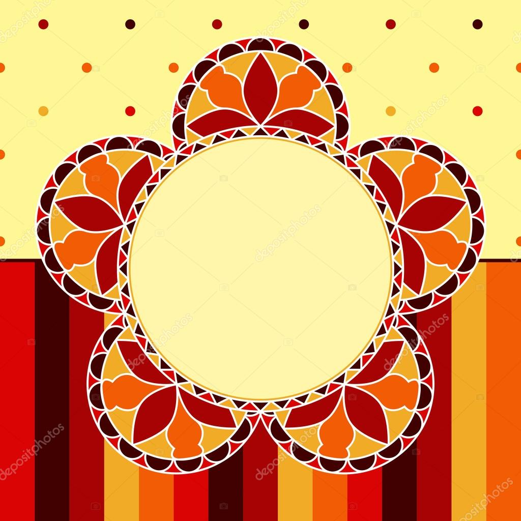 Abstract Floral background - Stained glass flowers. EPS10 vector illustration. — Stock Vector #13845556