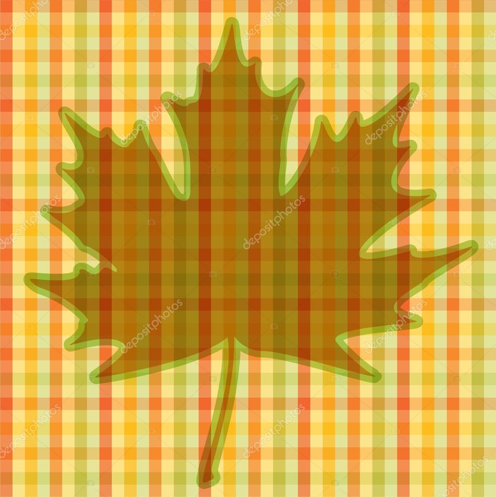 Square autumnal card - background. EPS10 vector illustration.   Stock Vector #13845680