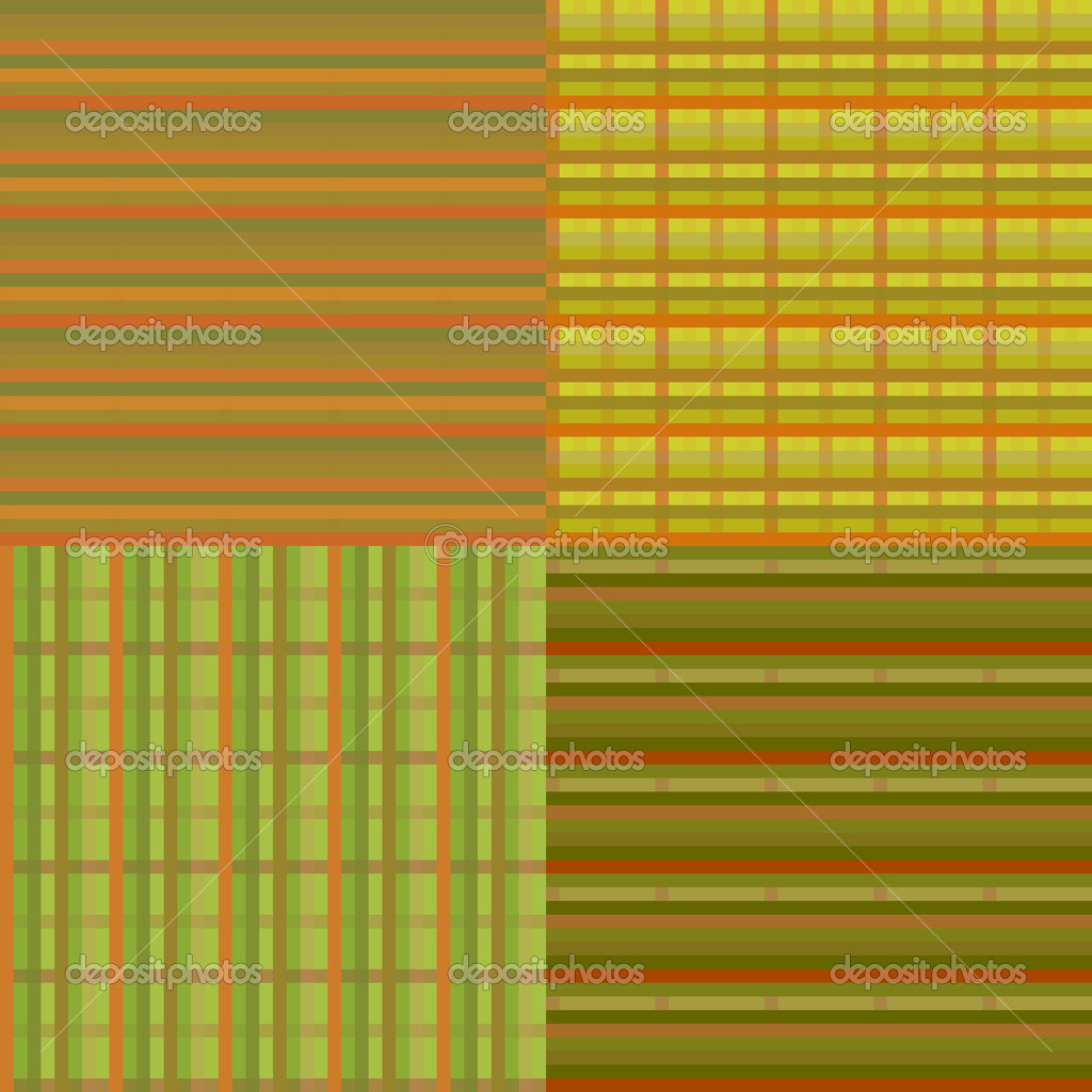 Set of abstract vector seamless textures. EPS10 vector illustration.  Stock Vector #13993175