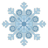 Single Snowflake — Stock Vector