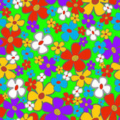 Flower Meadow Seamless — Stock Vector