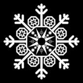 单一的白色雪花år ormar symboluppsättning — Stockvektor