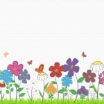 Flower glade — Stock Vector