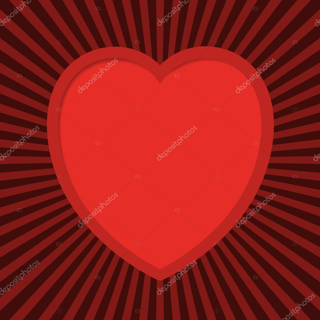 Valentine's card with cut out heart. EPS10 vector.  Stock Vector #19587553