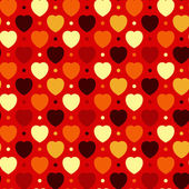 Hearts and Dots — Vettoriale Stock