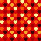 Heart Seamless Background — Stock Vector