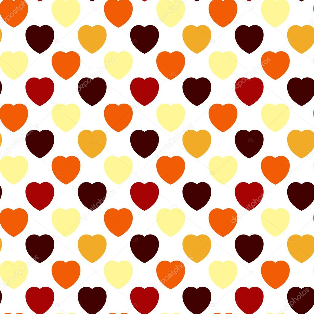 Abstract seamless background - Multicolored hearts. EPS10 vector. — Stock Vector #19742933