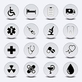 Icon Set Medecine — Stock Vector