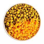 Corn And Peas — Stock Photo