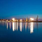 Night Seaport — Stock Photo