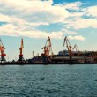 Panoramic Seaport — Stock Photo
