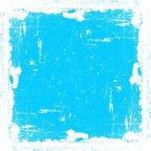 Cyan Textured Frame — Stock Vector