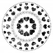 Black And White Ornament — Vector de stock