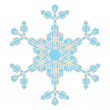 Crystal Snowflake — Stock Vector
