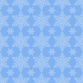 Blue Snowflake Seamless — Stock Vector