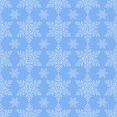 Blue Snowflake Seamless — Stockvector