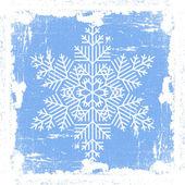 Blue Grunge Snowflake — Stock Vector