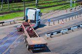 Truck Turns — Stock Photo