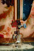 Dirty Sewing Machine — Stock Photo