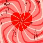 Vintage Valentine — Stock Vector