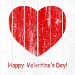 Grunge Wooden Valentine — Stock Vector #39951117