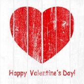 Grunge Wooden Valentine — Stock Vector